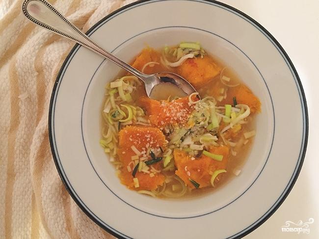 Суп из тыквы с сыром - фото шаг 4