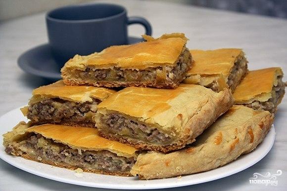 Пирог с картофелем и фаршем