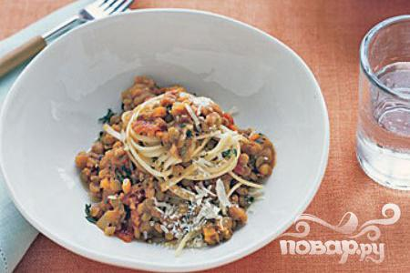 Рецепт Паста с чечевицей и морковью