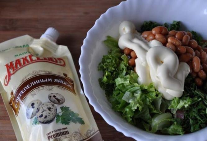Колбасный салат по-немецки - фото шаг 3