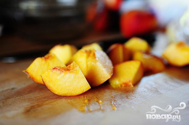 Блинчики с персиковой начинкой - фото шаг 1