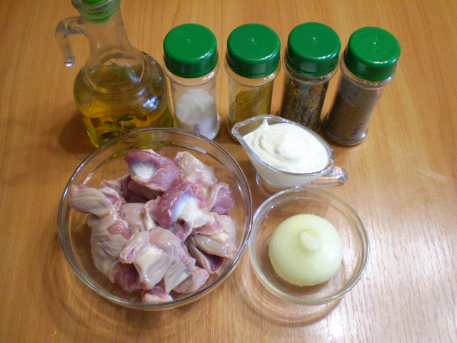 Тушеные куриные желудочки - фото шаг 1