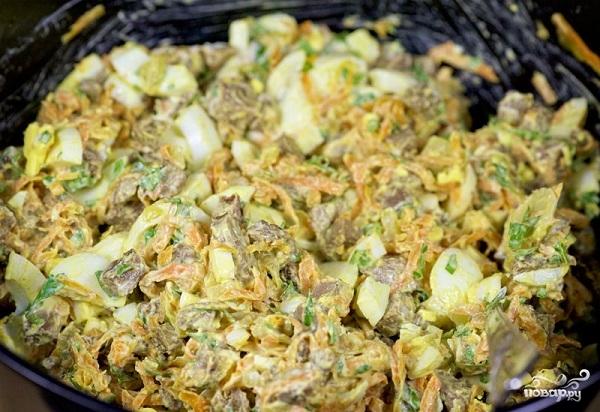Салат печёночный - фото шаг 11