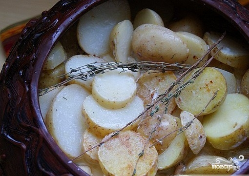 Картофель в сливках в духовке - фото шаг 5