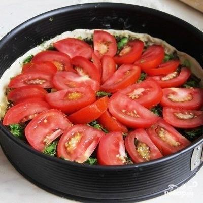 Киш с грибами и помидорами - фото шаг 5
