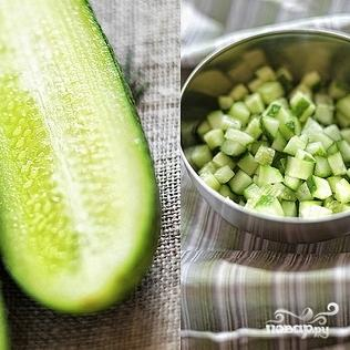 Вегетарианская окрошка - фото шаг 2