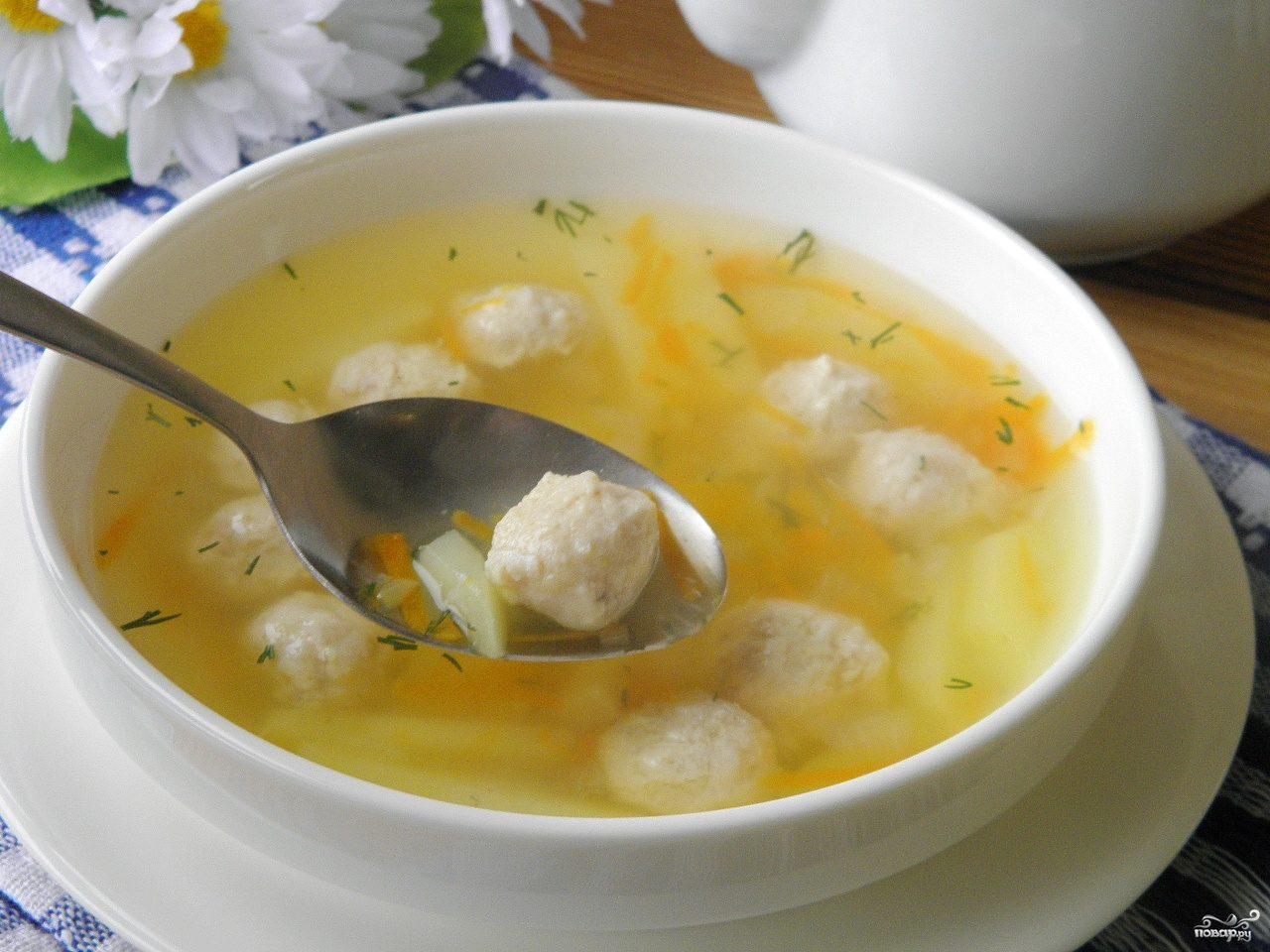 куриный фарш суп с фрикадельками рецепты фото