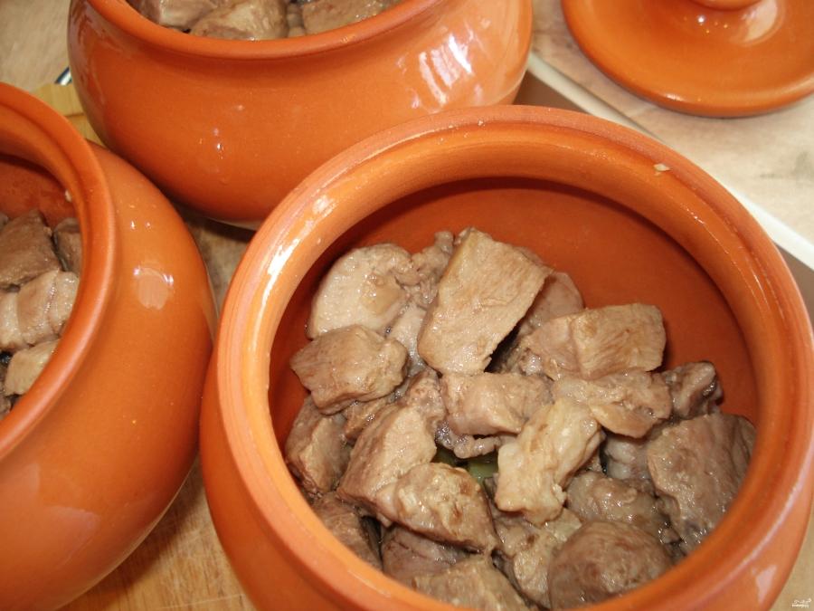 мясо без картошки в горшочках в духовке рецепты