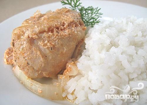 Курица в горшочке с паприкой и сливками - фото шаг 6