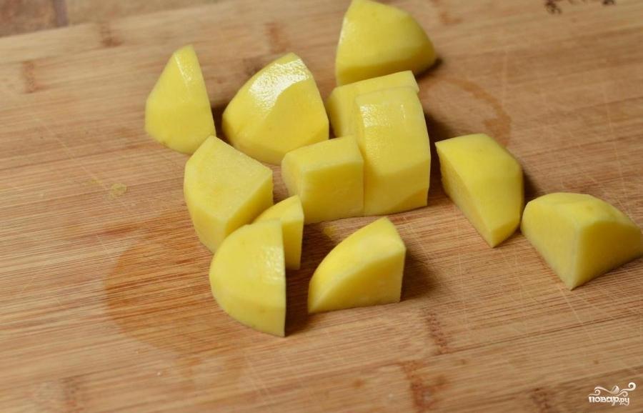 Рецепт Картошка с грибами в сливках