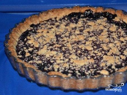 Постный черничный пирог - фото шаг 9