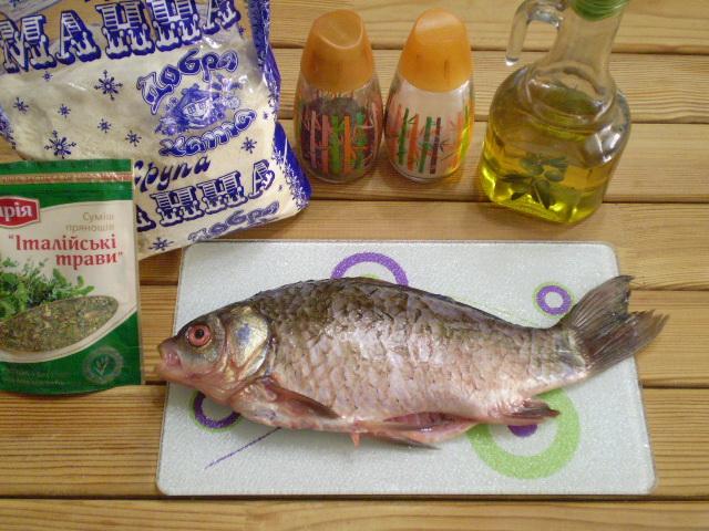Рецепт Жареная рыба в манке