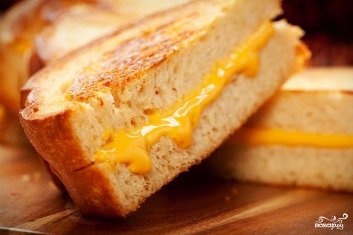 Рецепт Бутерброды с жареным хлебом и сыром
