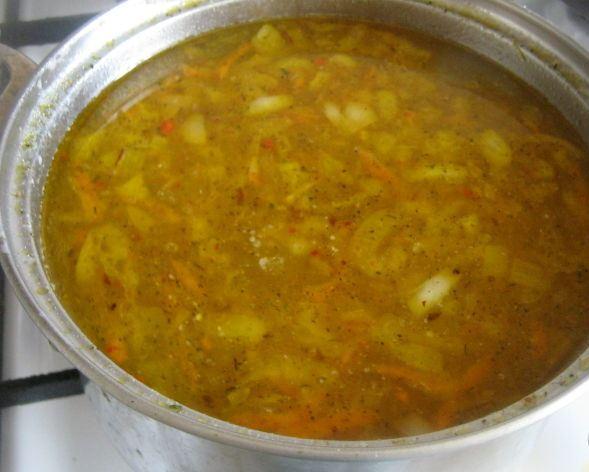 Овощной суп без мяса - фото шаг 7