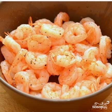 Салат с креветками в лаймовом соусе - фото шаг 4