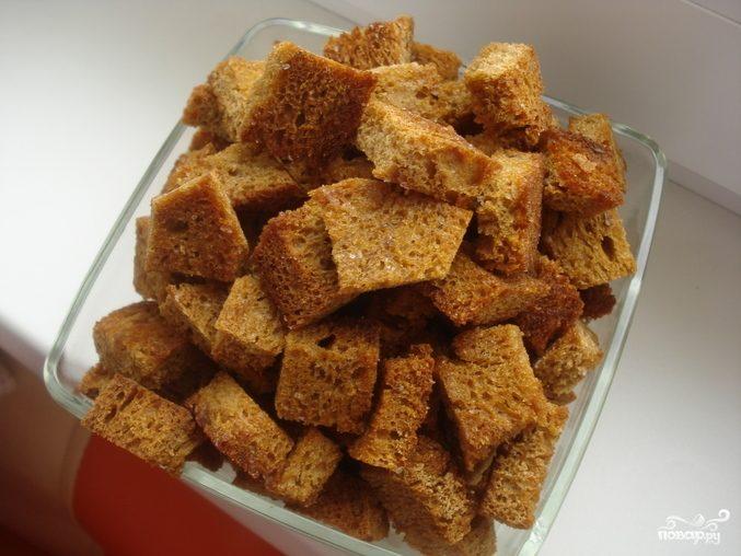 Рецепт Сухарики с чесноком в духовке