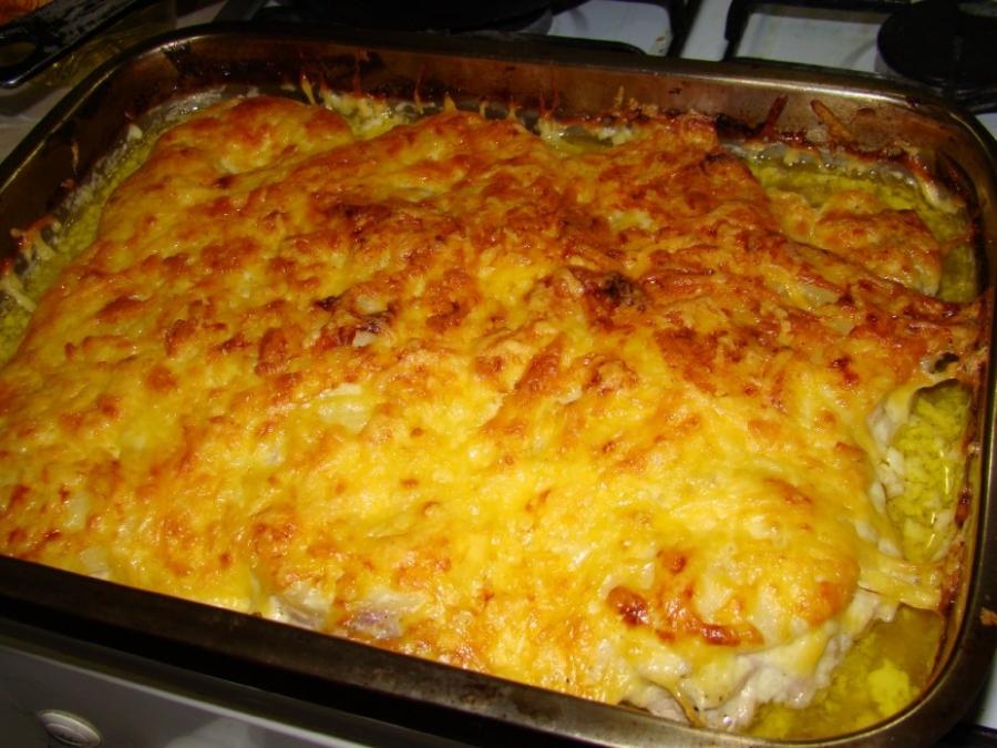 рецепт мяса с ананасом и картошкой в духовке