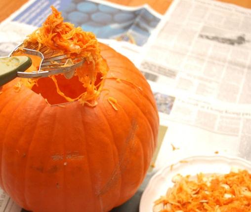 Тыква на Хэллоуин - фото шаг 3