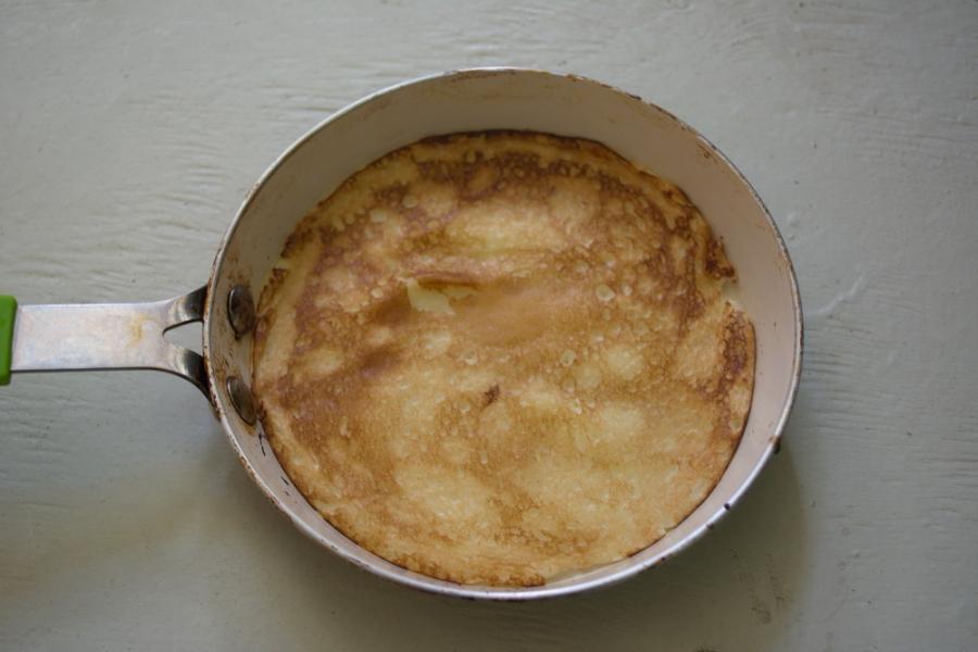 Блинчики с печенью трески - фото шаг 4