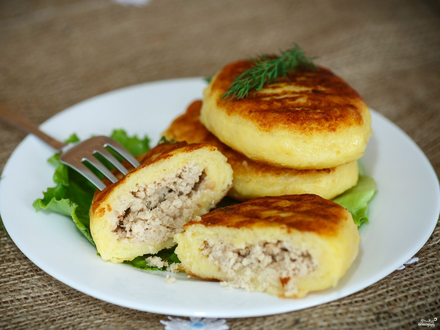 Пирожки из картофельного пюре с фаршем на сковороде рецепт с пошаговый