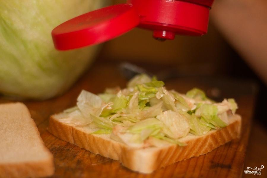 Тосты с капустой - фото шаг 3