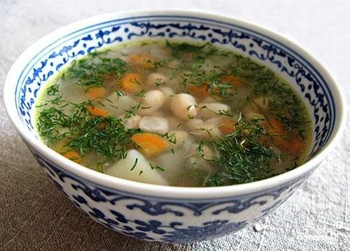 Рецепт Рыбный суп с фасолью