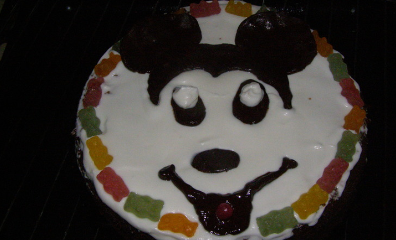 бисквитный торт микки маус рецепт видео
