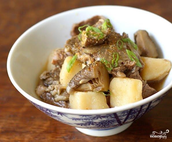 Рецепт Грибы шиитаке с картошкой