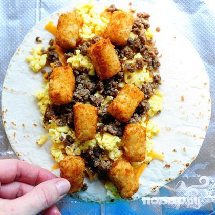 Бурито на завтрак - фото шаг 14