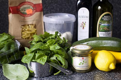 Салат из цукини и макарон - фото шаг 1