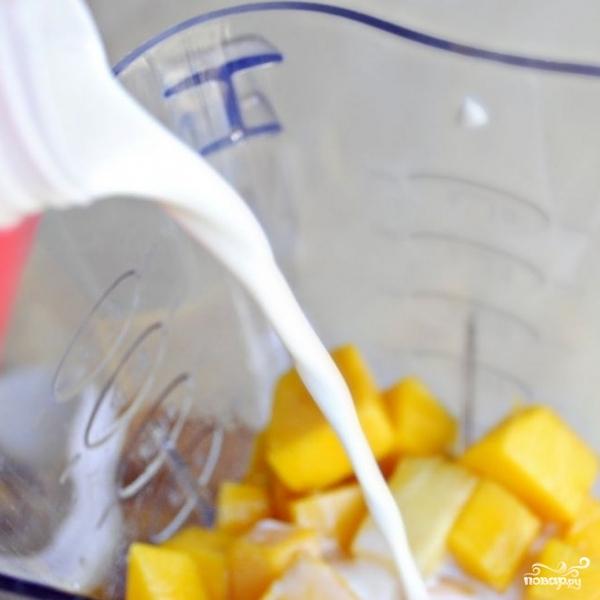 Ананасово-манговый смузи - фото шаг 8