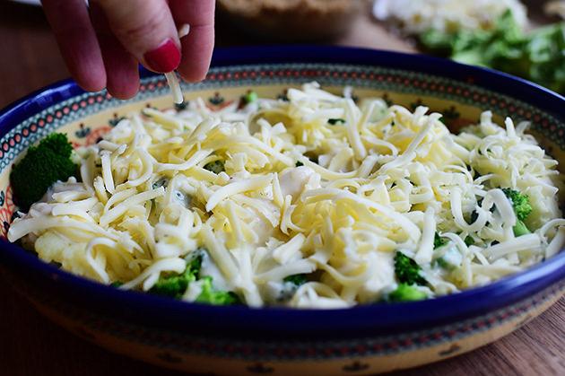 Запеканка из брокколи и цветной капусты - фото шаг 14