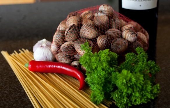 Рецепт Спагетти с морскими мидиями