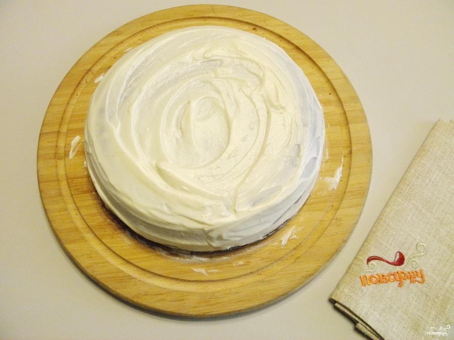"""Вишневый торт """"Наслаждение"""" - фото шаг 10"""