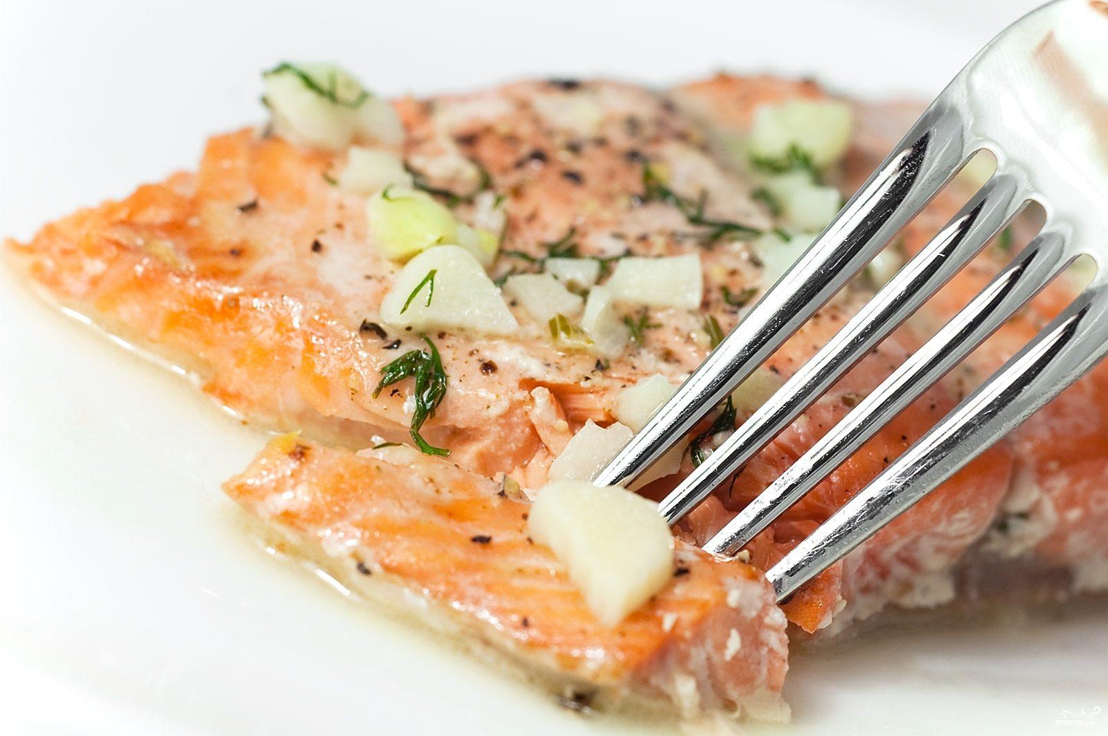 Рецепт Семга с сыром и помидорами
