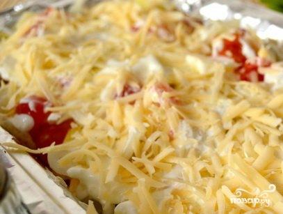 Запеченная картошка с шампиньонами и сыром - фото шаг 5