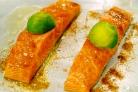 Праздничный лосось с лаймом