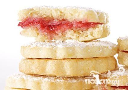 Рецепт Печенье-сэндвичи с лимонно-малиновой начинкой