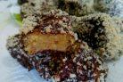 Пирожные Ламингтон, ароматизированные цедрой апельсина