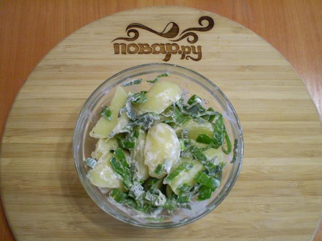 Салат с мелиссой - фото шаг 7