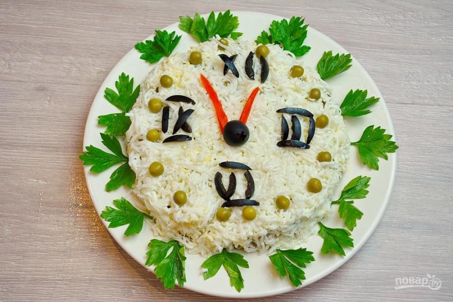 "Новогодний салат ""Куранты"" - фото шаг 9"