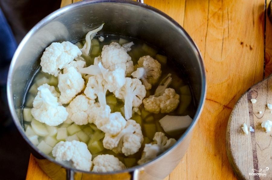 Рецепт Суп-пюре овощной со сливками