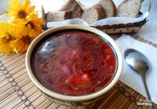 Суп из свекольной ботвы