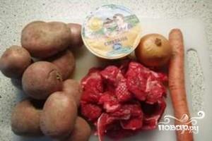 Рецепт Картофель с говядиной в мультиварке