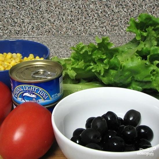 Рецепт Салат из тунца консервированного