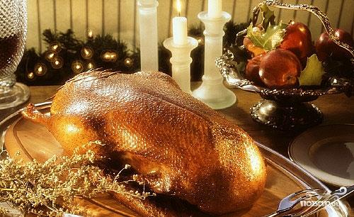 Рецепт Праздничный гусь