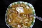 Лапша с белыми грибами