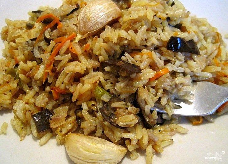 Рецепт Рис с баклажанами