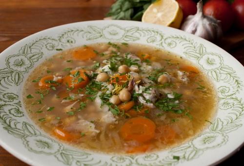 Куриный суп с нутом рецепт