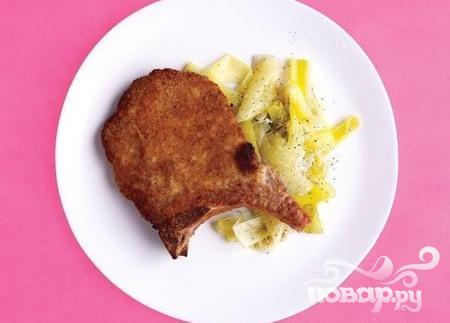 Рецепт Запанированные свиные отбивные